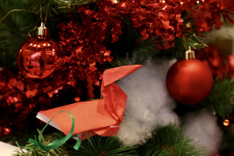 L'origami a forma di oca, simbolo di DaunenStep, che ha permesso loro di aggiudicarsi il piumino D400 Classic Winter Matrimoniale